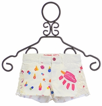 Desigual White Shorts for Girls