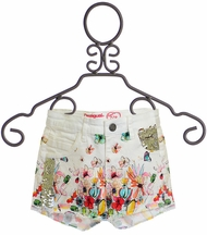 Desigual White Shorts with Flowers