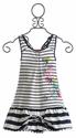Deux Par Deux Navy Stripe Dress for Girls