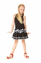 Deux Par Deux Girls Bow Dress Black