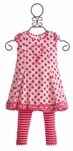 Deux Par Deux Little Girls Heart Dress