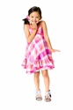 Deux Par Deux Pink Plaid Dress for Girls
