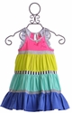Deux Par Deux Rainbow Summer Dress for Girls