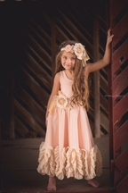 DollBaby Be at Peace Maxi Dress Peach