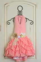 DollBaby Coral Dress with Sash PREORDER