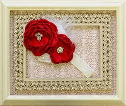 DollBaby Girls Red Headband Holiday