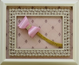 DollBaby Pink and Gold Sparkly Headband