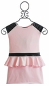 Dolls and Divas Light Pink Girls Peplum Dress