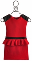 Dolls and Divas Red Peplum Tween Dress
