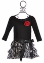 Dolls and Divas Ruffle Zebra Skirt Girls Dress