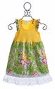 DreamSpun Green Floral Dress with Lace Hem - 4T & 8