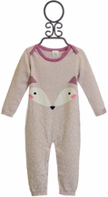 Egg Baby Fox Onesie in Purple (3Mos,6Mos,12Mos)