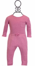 Egg Baby Girl Top and Pants Set in Fuchsia