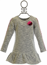 Egg Designer Ruffle Dress for Girls with Pom Pom