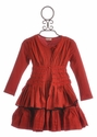 Eliane et Lena Red Girls Peasant Dress