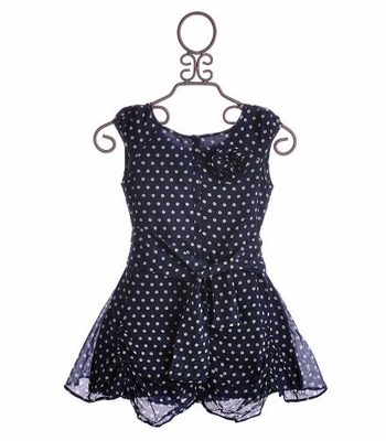 Eliane Et Lena Tween Summer Dress Navy Irrelle