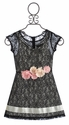 Elisa B Black Tween Dress Lovely Lace (Size 7 & 8)