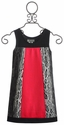 Elisa B Color Block Tween Dress with Animal Print