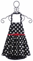 Elisa B Girls Dotted Knit Halter Dress (Size 5, 6, 14)