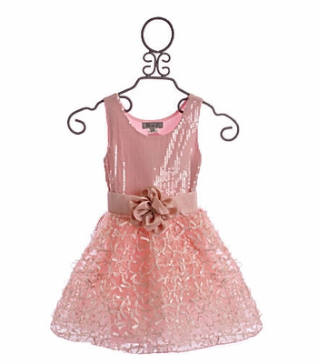 Elisa B Girls Dress Pink