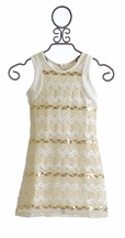 Elisa B Gold Dust Party Dress for Tweens (7,10,12)