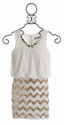 Elisa B Holiday Dress for Tweens in Gold