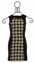 Elisa B Houndstooth Dress Black and White (Size 10)