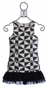 Elisa B Miss Sixty Black and White Dress (8 & 10)