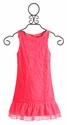 Elisa B Neon Pink Girls Lace Dress