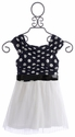 Elisa B Polka Dot Girls Dress (10, 12, 14)