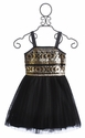 Elisa B Sequin Dress in Black
