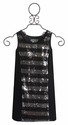 Elisa B Sequin Party Dress in Black