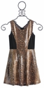 Elisa B Sequin Tween Party Dress in Animal Print