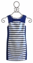 Elisa B Sparkle Stripes Girls Dress (Size 8)