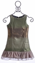 Elisa B Spring Green Sequin Tween Dress