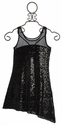 Elisa B Tween Black Sequin Knit Dress