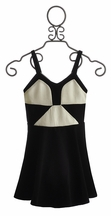 Elisa B Tween Casual Dress Black and White (Size 7)