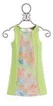 Elisa B Tween Color Block Dress in Pastels (7,8,12)