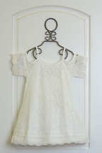 Elisa B Tween Dress in White