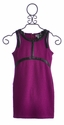 Elisa B Tween Dress Textured Purple