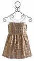 Elisa B Tween Party Dress Gold Sequin