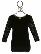Ella Moss Black Lace Knit Top (7/8 & 10)