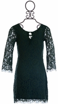 Ella Moss Dress with Lace for Girls