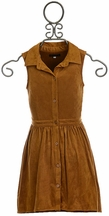 Ella Moss Girls Flare Shirt Dress Brown (7/8,10,12)