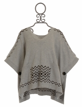 Ella Moss Gray Cape Sweater with Pockets (10 & 12)