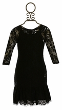 Ella Moss Rose Lace Dress Black (Size 10)