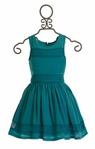 Ella Moss Tween Dress in Teal (Size 10)