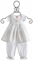 Elysees Bebe White Baby Doll Dress with Bloomers