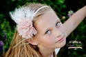 Enchanted Shimmer Girls Vintage Rose Headband