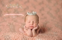 Enchanted Shimmer Newborn Crown in Sophia